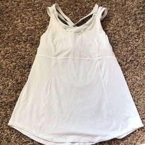 White Lululemon bra/Tank
